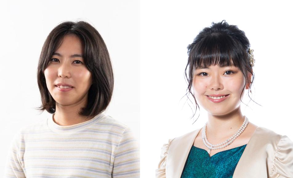 里見香奈女流名人(左)と加藤桃子女流三段